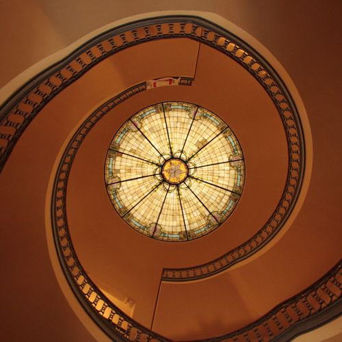 Staircase-and-dome